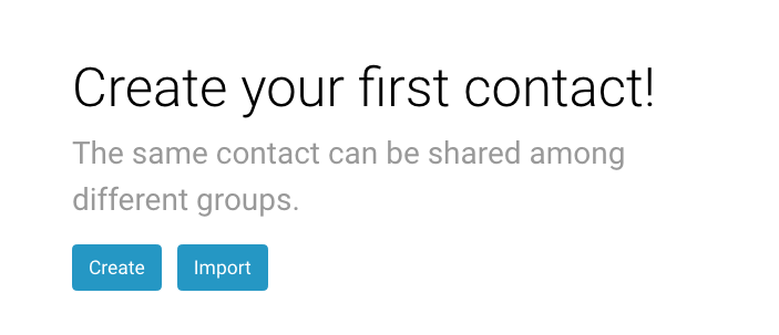 Create or import contacts to Groupmail